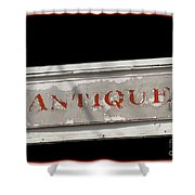 Antique Sign Shower Curtain