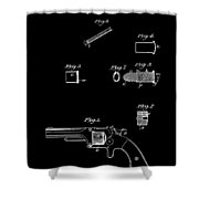 Antique Smith And Wesson Patent For A Metallic Cartridge 1860 Shower Curtain