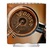 Antique Sonora Record Player Shower Curtain