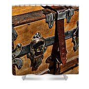 Antique Steamer Truck Detail Shower Curtain