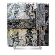 Antique Textured Metalwork Gate Shower Curtain
