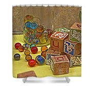Antique Toys Shower Curtain
