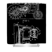 Antique Tractor Patent Shower Curtain