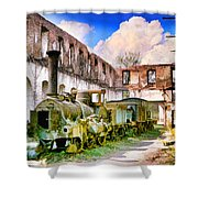 Antique Train Shower Curtain by Chuck Staley