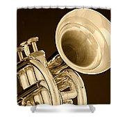 Antique Trumpet Shower Curtain