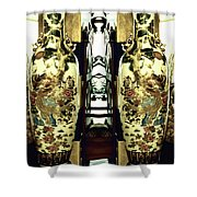 Antique Vases In The Interior Oil Painting On Canvas Shower Curtain