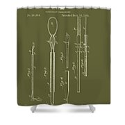Antique Veterinary Instrument Patent 1888 Shower Curtain