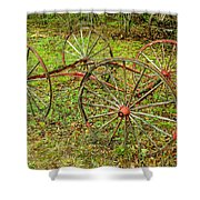 Antique Wagon Frame Shower Curtain