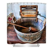 Antique Washing Machine Shower Curtain