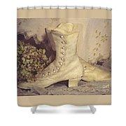 Antique Wedding Shoes Shower Curtain