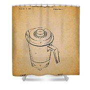 Antique Westinghouse Coffee Maker Patent 1964 Shower Curtain