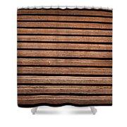 Antique Wood Texture Shower Curtain