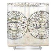 Antique World Map Harmonie Ou Correspondance Du Globe 1659 Shower Curtain