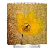 Antique Yellow Flower Shower Curtain