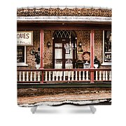 Antiques Bought And Sold Shower Curtain by Heather Applegate