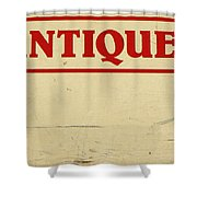 Antiques Sign Shower Curtain