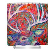 Antler Swirl Shower Curtain