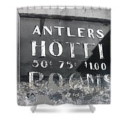 Antler's Hotel Front Door Ghost Town Victor Colorado 1971 1971-2013 Shower Curtain