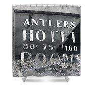 Antler's Hotel Front Door Ghost Town Victor Colorado 1971 1971-2013 Shower Curtain