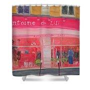 Antoine & Lili, 2010 Oil On Canvas Shower Curtain