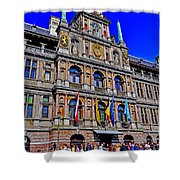 Antwerp's City Hall Shower Curtain