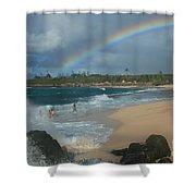 Anuenue - Aloha Mai E Hookipa Beach Maui Hawaii Shower Curtain