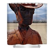 Anza Borrego Cowboy Shower Curtain