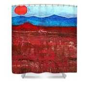 Anza-borrego Vista Original Painting Shower Curtain