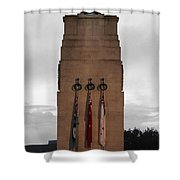 Anzac Day 2014 Auckland Museum Cenotaph Shower Curtain