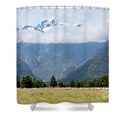 Aoraki Mt Cook Highest Peak Of Southern Alps Nz Shower Curtain