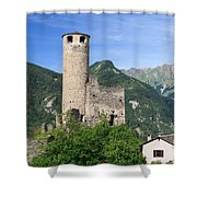 Aosta Valley - Chatelard Ruins Shower Curtain