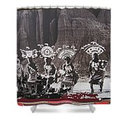 Apache Crown Dancers Date And Location Unknown 2013 Shower Curtain