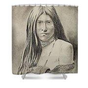 Apache Girl 1906 Shower Curtain
