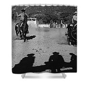 Apache Roping Cow Labor Day Rodeo White River Arizona 1969 Shower Curtain