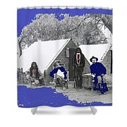 Apache Scouts Soldiers Living Quarters Location And Date Unknown  Shower Curtain