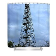 Apalachee Fire Tower In Morgan County Shower Curtain