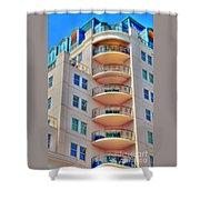 Apartment Building Shower Curtain