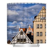 Apartment Houses In Gdansk Shower Curtain