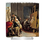 Apelles Painting The Portrait Of Campaspe Shower Curtain