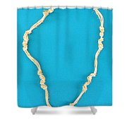 Aphrodite Gamelioinecklace Shower Curtain by Augusta Stylianou