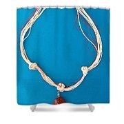 Aphrodite Genetyllis Necklace Shower Curtain by Augusta Stylianou