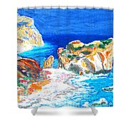 Aphrodite's Birth Place Shower Curtain by Augusta Stylianou