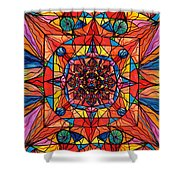 Aplomb Shower Curtain by Teal Eye  Print Store