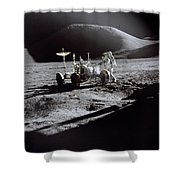 Apollo 15 Lunar Rover Shower Curtain