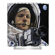 Apollo- For Mankind Shower Curtain