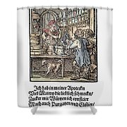 Apothecary, 1568 Shower Curtain