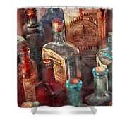 Apothecary - A Series Of Bottles Shower Curtain
