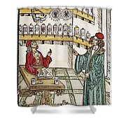 Apothecary Shop, 1500 Shower Curtain