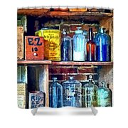 Apothecary Stockroom Shower Curtain