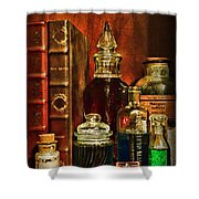 Apothecary - Vintage Jars And Potions Shower Curtain